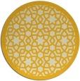 rug #912949 | round yellow borders rug