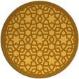 rug #912965 | round yellow borders rug