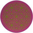 rug #912981 | round pink borders rug