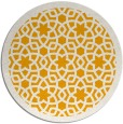 rug #912989 | round light-orange borders rug
