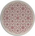 rug #912993 | round pink borders rug