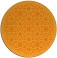 rug #912997 | round light-orange geometry rug