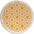 rug #913001 | round light-orange geometry rug