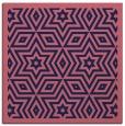 rug #917061   square blue-violet borders rug