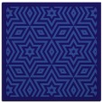 rug #917069 | square blue-violet geometry rug