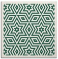 rug #917101 | square blue-green graphic rug