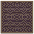 rug #917205 | square mid-brown borders rug