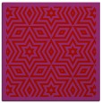 rug #917225 | square red borders rug