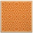 rug #917233 | square red-orange graphic rug