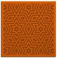 rug #917237 | square red-orange graphic rug