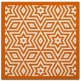 rug #917241 | square red-orange graphic rug