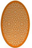 rug #917325 | oval orange borders rug