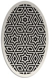 rug #917329 | oval white geometry rug