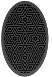 rug #917333 | oval black borders rug