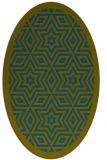 rug #917405 | oval green borders rug