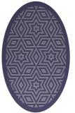 rug #917417   oval blue-violet borders rug
