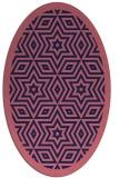 rug #917421 | oval blue-violet borders rug