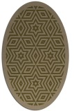 rug #917441 | oval mid-brown borders rug