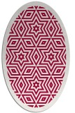 rug #917445 | oval red graphic rug