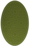 rug #917453 | oval green borders rug