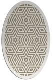 rug #917481 | oval white borders rug