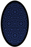 rug #917497 | oval black borders rug