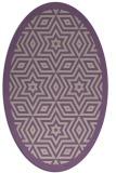 rug #917509 | oval purple borders rug