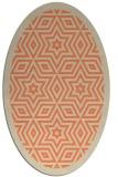 rug #917533 | oval orange borders rug