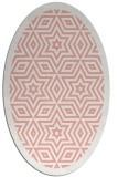 rug #917553 | oval white borders rug