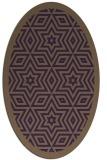 rug #917565 | oval purple borders rug