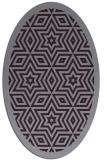 rug #917569 | oval purple geometry rug