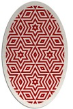 rug #917573 | oval red graphic rug