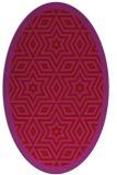 rug #917585 | oval red borders rug