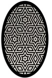 rug #917605 | oval white borders rug