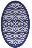 rug #917613 | oval white borders rug