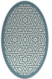 rug #917621 | oval white geometry rug
