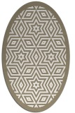 rug #917625 | oval beige graphic rug