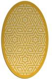 rug #917629 | oval yellow borders rug