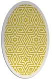 rug #917641 | oval white borders rug