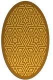 rug #917645   oval yellow borders rug