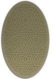 rug #917657 | oval light-green rug