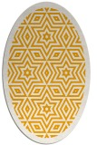 rug #917669 | oval light-orange graphic rug