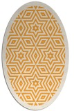 rug #917681 | oval white graphic rug