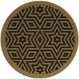 rug #918073   round mid-brown borders rug