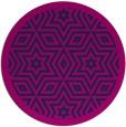 rug #918081 | round pink borders rug