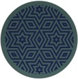 rug #918085 | round blue-green borders rug