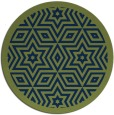 rug #918089 | round green graphic rug
