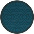 rug #918113 | round blue borders rug
