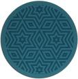rug #918117   round blue-green borders rug
