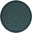 rug #918121 | round blue-green graphic rug